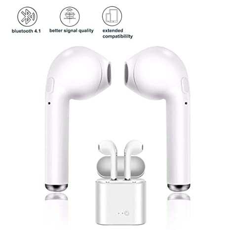 Auriculares Bluetooth Airpods inalámbrico, Auricular Audio con estación de Carga, iPhone, Samsung y