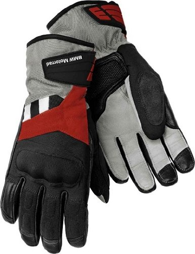 BMW Genuine Motorcycle Motorrad GS Dry, Ladies' glove - Color: Black / Red Anthracite - Size: EU 7 US 7