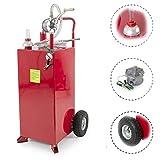30 gallon gas tank - 30 Portable Diesel Fuel Transfer Gas Can Caddy Storage Tank w/ Wheels