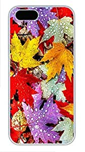 Case For HTC One M8 Cover nature colorful leeves PC Custom Case For HTC One M8 Cover Cover White