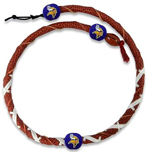 Necklace Spiral Classic Football - GameWear NFL Minnesota Vikings Classic Spiral Football Necklace, One Size, Black