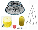 KUFA Sports Tower Style Prawn trap with 400' rope, Yellow float, Bait Jar & Harness Combo(CT130+PAP3+HA5)