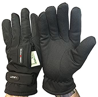 6 Pairs Value Pack of excell Mens Gripper Winter Gloves