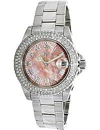 Invicta Women's Sea Base Steel Bracelet & Case Swiss Quartz Pink Dial Analog Watch 20363