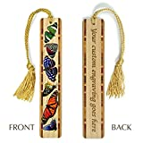 Best Mitercraft Hikes In Usas - Personalized Butterflies in Color Wooden Bookmark with Tassel Review