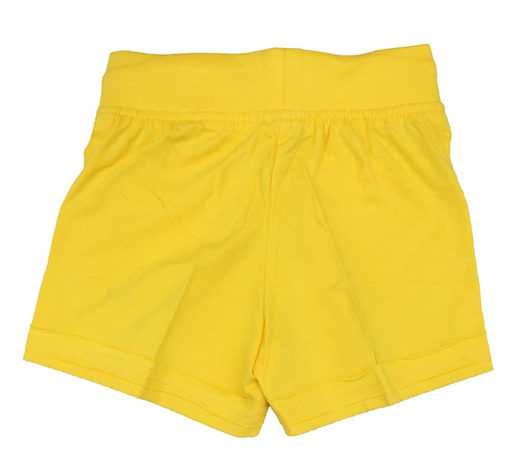 Romano Girls Stylish Cotton Yellow Shorts