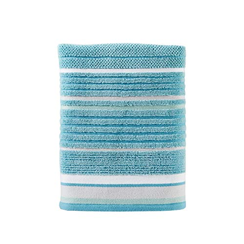(SKL Home by Saturday Knight Ltd. Seabrook Stripe Bath Towel, Teal)