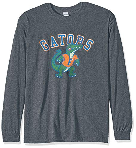 (Elite Fan Shop NCAA Men's Florida Gators Long Sleeve T Shirt Charcoal Vintage Florida Gators Charcoal)