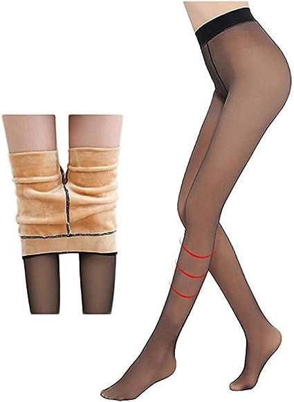 ZITOOP Perfect Legs Fake Translucent Warm Fleece Pantyhose