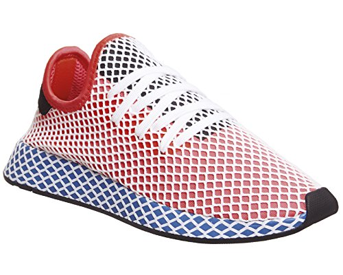 Adidas Deerupt Runner Mens Sneakers Red Red/Blue discount cheap price FRJj5