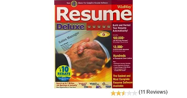 amazoncom winway resume deluxe - Winway Resume Free