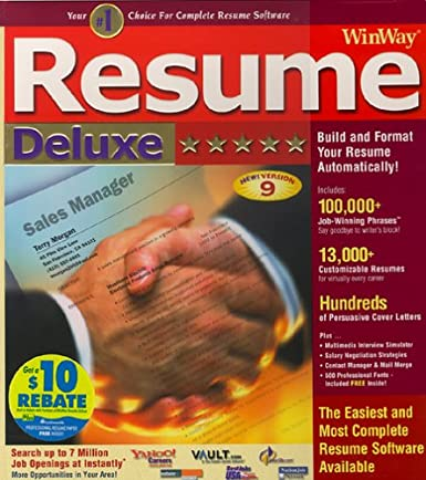 amazon com winway resume deluxe