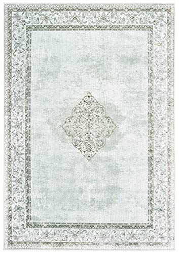 United Weavers Royalton Area Rug 853 10471 Hylton Silver Cracked Medallion 2' 7