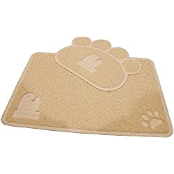 Cat Litter Mat (2-Mat Set) - Soft and Durable Pet Litter Mats for Cats, Dogs, and Puppies - One Big (24.5'' x 16.5'') and One Small (15.5'' x 12.5'') by Pet Magasin