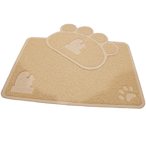 Pet Magasin Cat Litter Mat (2-Mat Set) - Soft and Durable Pet Litter Mats for Cats, Dogs, and Puppies - One Big (24.5'' x 16.5'') and One Small (15.5'' x 12.5'') by