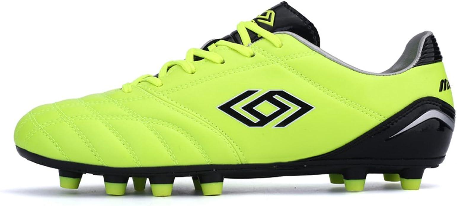MINGBIN - Botas de fútbol de Piel para Hombre Amarillo Amarillo 39.5 EU, Color Amarillo, Talla 39,5 EU: Amazon.es: Zapatos y complementos