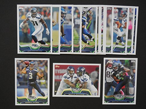 Seattle Seahawks 2013 Topps Football Team Set (Super Bowl Champions)**Cliff Avril, Brandon Browner, Kam Chancellor, Chris Clemons, Chris Harper, Percy Harvin, Bruce Irvin, Marshawn Lynch, Christine Michael, Zach Miller, Sidney Rice, Richard Sherman, Golden Tate, Earl Thomas, Robert Turbin, Max Unger, Bobby Wagner and Russell Wilson** ()