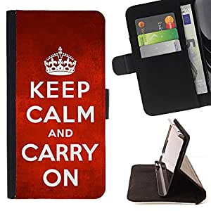 Kingstore / - Mantenga Calmand Carry On Diseño con la corona - HTC One M8