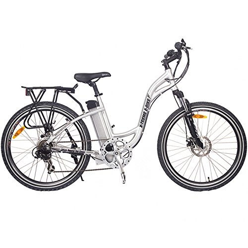 (X-Treme Scooters, Trail Climber Elite Step Thru - Lithium Powered 300 watt Long Range Electric Mountain Bicycle (Baby Blue))