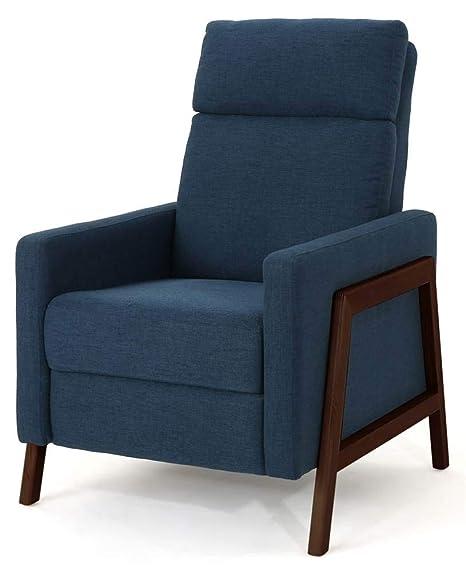 Amazing Noble House Hadrian Mid Century Modern Recliner Short Links Chair Design For Home Short Linksinfo
