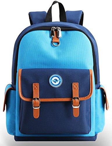 Kids Backpack Children Bookbag Preschool Kindergarten Elementary School Travel Bag for Girls Boys(14182 small blue)