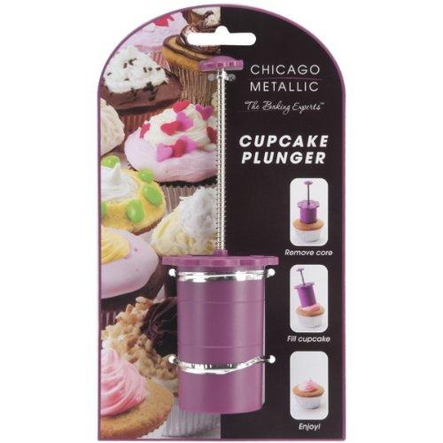 Chicago Metallic Baking Essentials Cupcake Plunger, Purple