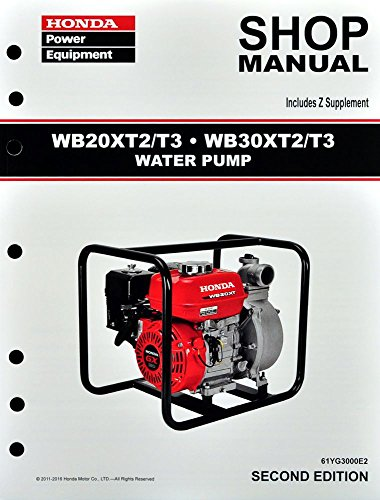 Honda WB20 WB30 WB20X WB30X Pump Service Repair Shop Manual