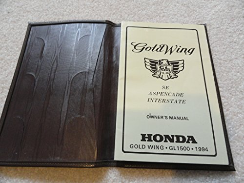 1994 Honda Gold Wing Owners Manual SE Aspencade Interstate GL1500 Goldwing