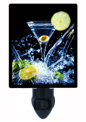 Martini Night Light - A Little Splash - Cocktail & (Martini Wall Fixture)