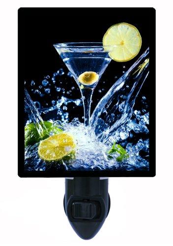 Martini Night Light, A Little Splash, Cocktail & Olive