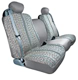 07 dodge ram 3500 seat covers - Saddleman Custom Made Rear Bench / Backrest Seat Cover - Saddle Blanket Fabric (Gray)
