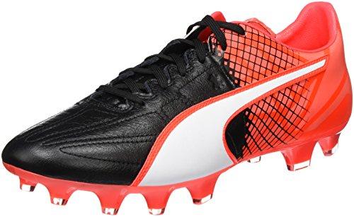 Puma ES 3.5 Lth FG F6, Botas de Fútbol para Hombre, Negro (Blk/Wht/Red), 47 EU