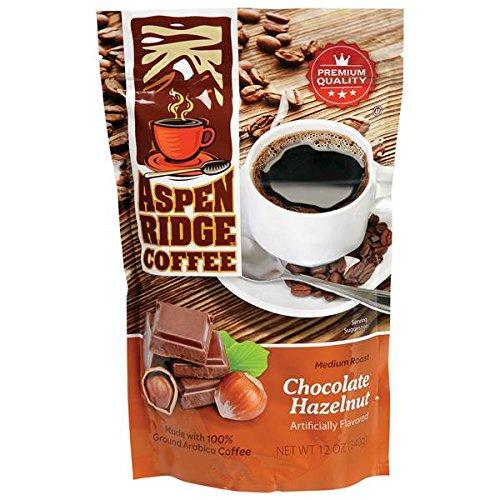 Aspen Coffee (ASPEN RIDGE COFFEE MEDIUM ROAST, CHOCOLATE HAZELNUT 12 OZ.)