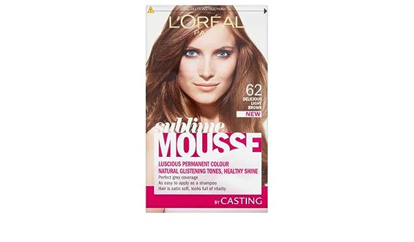 LOreal Paris Sublime Mousse Pelo colorante Delicioso Marrón claro 6.23