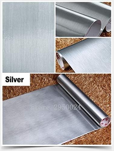 Hnzzn 5 M 10 M Wasserdicht Pvc Selbstklebende Retroreflektierende Folie Spiegel Metall Aufkleber Tapete Selbstklebende Tapete Renovierung Home Decor Silber 10 M X 60 Cm Baumarkt