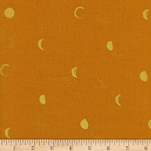 Santa Fe Quilting - Cotton + Steel Santa Fe Moon Phase Metallic Clay Fabric by The Yard
