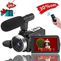 Camcorder Video Camera Full HD 1080p Camera Night Vision...