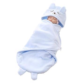 ML Saco de Dormir para bebés, recién Nacido Infantil, Super Suave Polar Polar de Dibujos Animados, niño y niña (1-12 Meses),Blue: Amazon.es: Deportes y aire ...