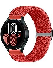 Runostrich 20 mm armband flätat elastiskt Solo Loop kompatibelt med Samsung Galaxy Watch3 41 mm/Active2 44 mm 40 mm/Galaxy Watch 42 mm/Gear Sport nylon stretchigt ersättningsarmband kvinnor män