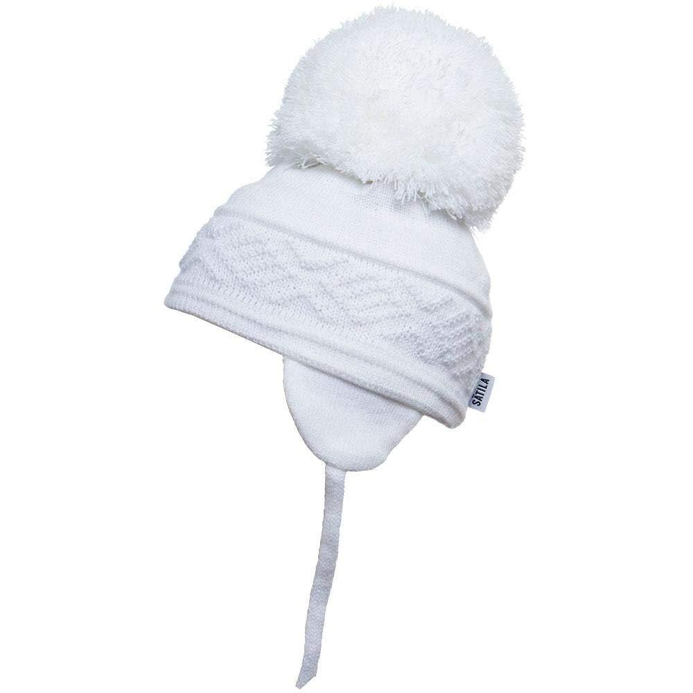 Satila of Sweden Malva Baby Blue Knitted Big Pom Hat