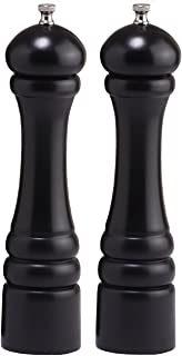 "product image for Chef Specialties 10"" Imperial Pepper Mill and Salt Mill Set, Ebony"