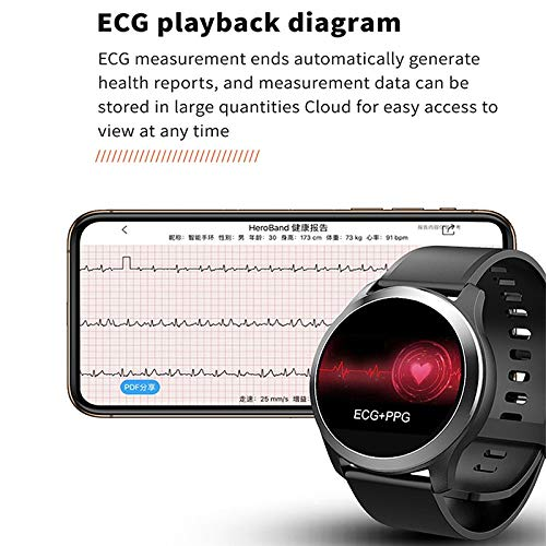 Red TOOGOO Smart Watch Z03 PPG+ECG Blood Pressure Heart Rate Rate Rate Tracker Smart Sport Watch Smart Bracelet Fitness Tracker for Tezer(Red) ba1bf7