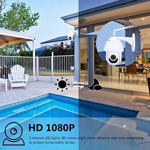 MQQ Cámara inalámbrica de 360 Grados cámara casera visión Conjunto de Monitor 3MP HD Noche teléfono móvil WiFi Remoto (Size : 64GB): Amazon.es: Electrónica