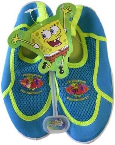 Nickelodeon Neon Spongebob Squarepants Aqua Socks Size 11 Boys Water Shoes Size 11