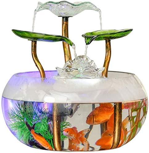 魚飼育用の水槽- ミニレイジー金魚タンク 水族館の家の装飾 創造的なガラスのリビングルーム (28 * 28 * 28cm)(使用:加湿器)