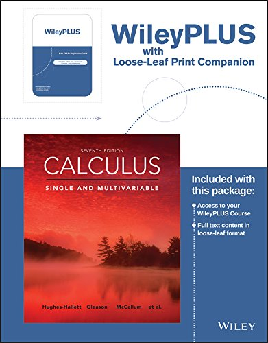 Calculus: Single and Multivariable, 7e WileyPLUS Registration Card + Loose-leaf Print Companion