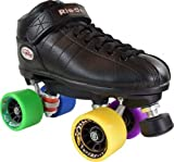 Riedell R3 Purple Cosmic Superfly Indoor Outdoor Roller Skates Men Size 8