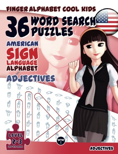 36 Word Search Puzzles With The American Sign Language Alphabet  Adjectives   Fingeralphabet Cool Kids