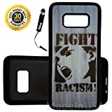 Custom Galaxy S8 Plus Case (Graffiti Fight Racism) Edge-to-Edge Rubber Black Cover Ultra Slim | Lightweight | Includes Stylus Pen by Innosub