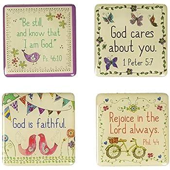 Everyday Blessings Inspirational Fridge Magnet Set 4